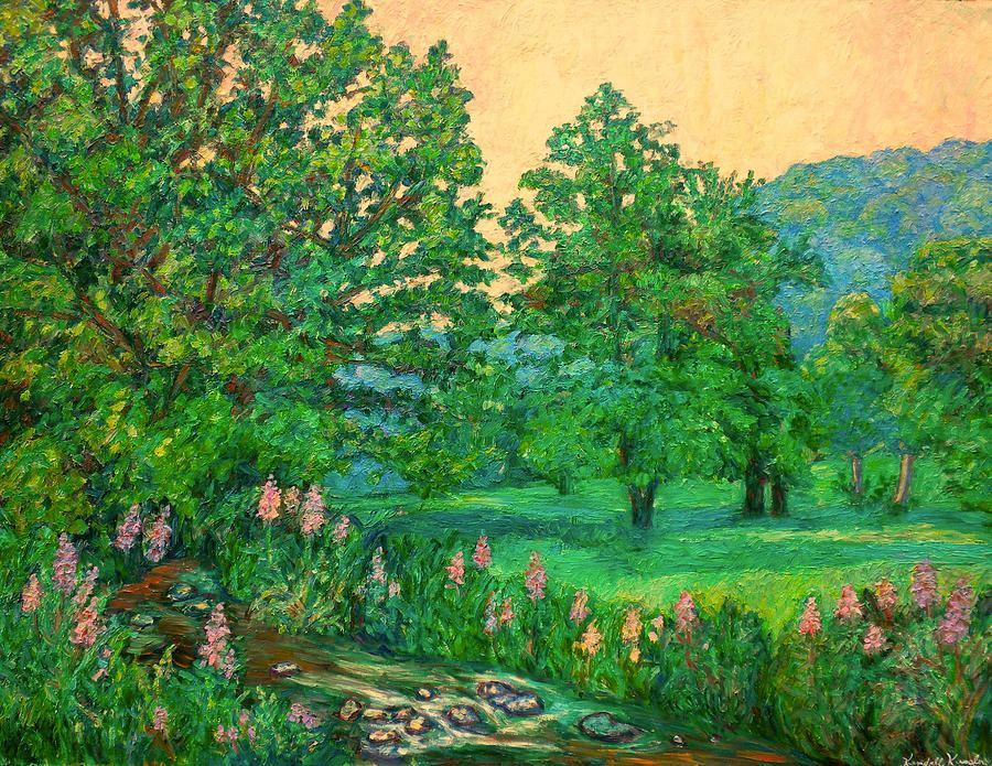 Landscape Painting - Park Road In Radford by Kendall Kessler