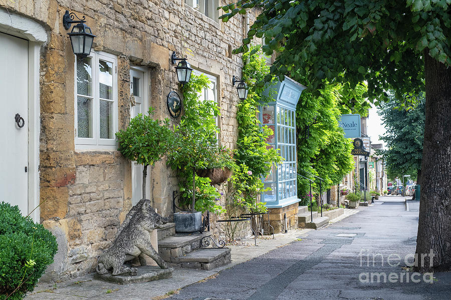 Park Street Stow on the Wold in Summer by Tim Gainey