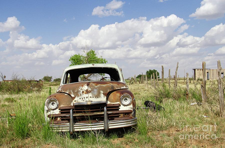 Parked In Glenrio by Suzanne Oesterling