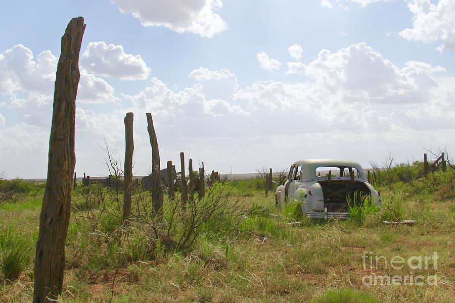 Parked By the Fence by Suzanne Oesterling