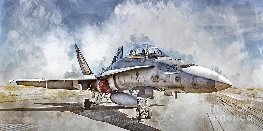 Brad Allen Digital Art - Parked Hornet by Brad Allen Fine Art