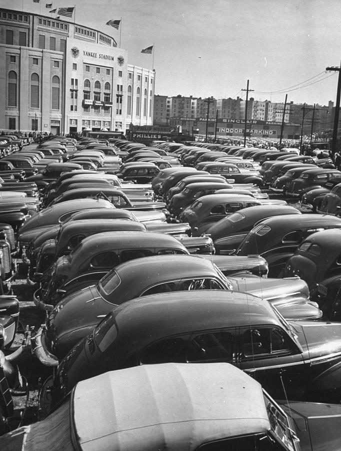 Parking Lot At Yankee Staduim During Wor Photograph by John Phillips