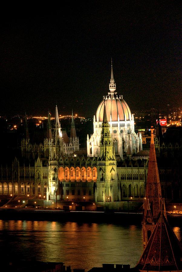 Parliament Building Lit Up At Night Photograph by Roberto Herrero Garcia