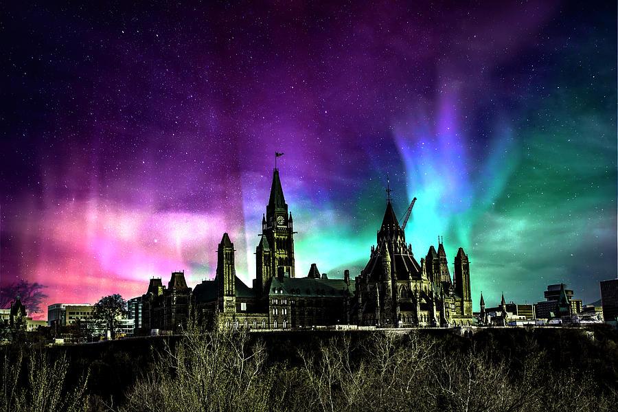 Space Digital Art - Parliament Skys Ottawa by PatPro