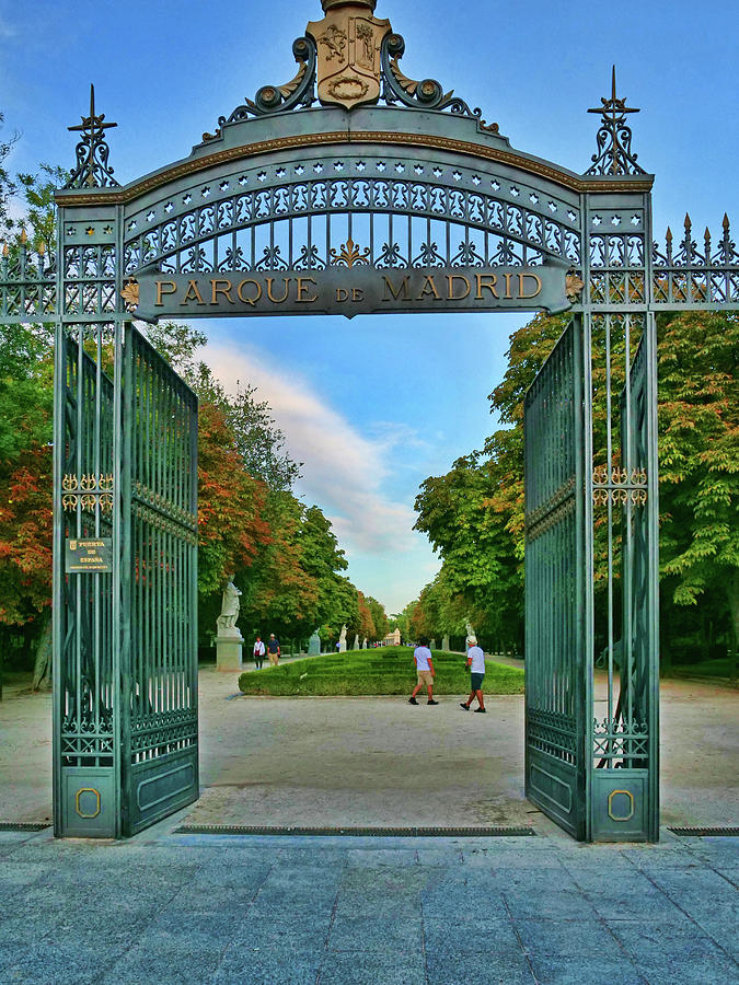 Parque Of Madrid Gate Photograph