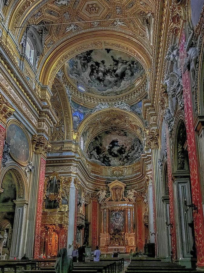 Chiesa Nuova Photograph - Parrocchia Santa Maria In Vallicella by Joseph Yarbrough