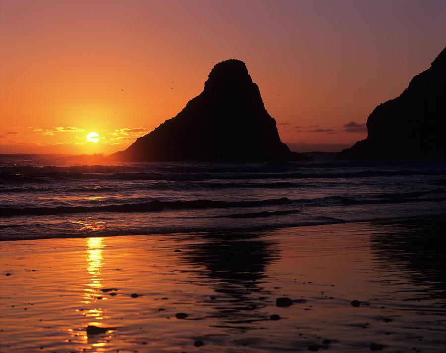 Parrot Rocks Sunset by Robert Potts