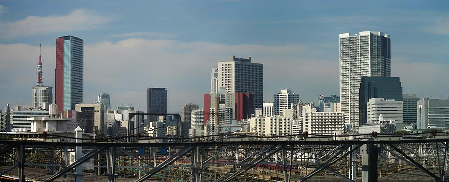 Part Of The Skyline In Southeast Tokyo Photograph by Chris Jongkind