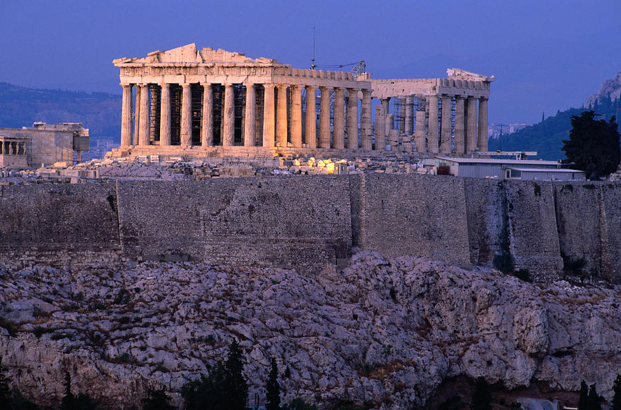 Parthenon And Acropolis From Filopappou Photograph by Lonely Planet