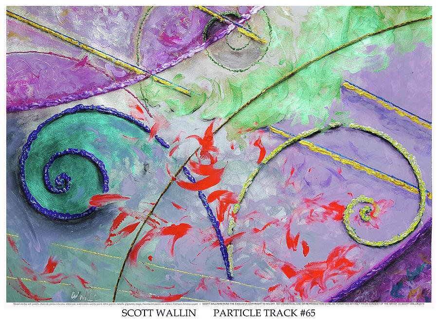 Energetic Painting - Particle Track Sixty-five by Scott Wallin