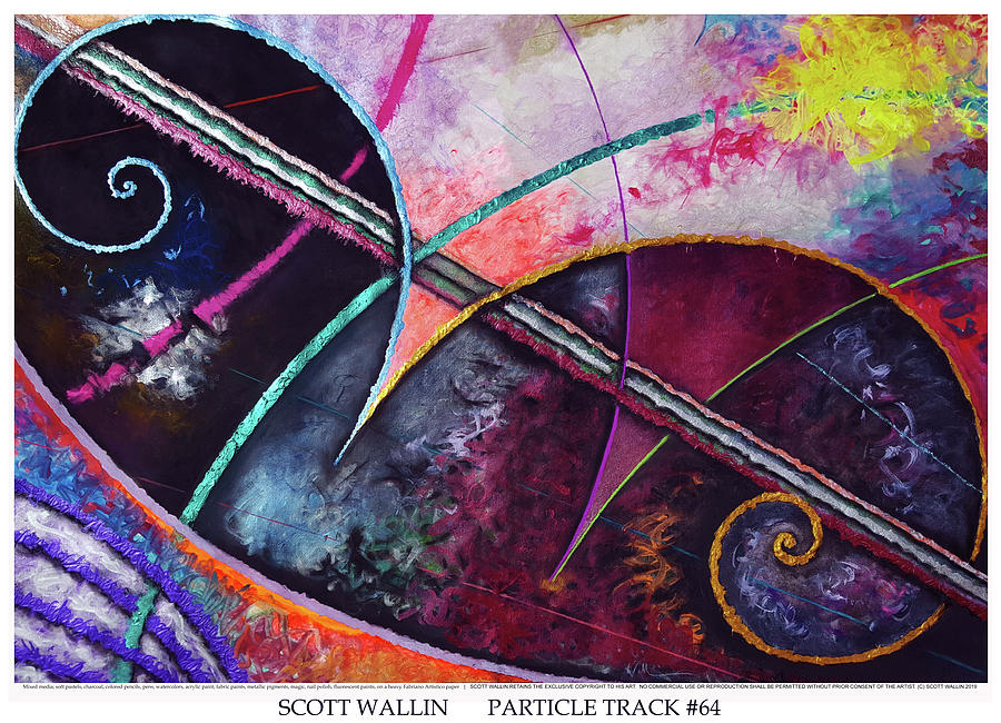 Energetic Painting - Particle Track Sixty-four by Scott Wallin