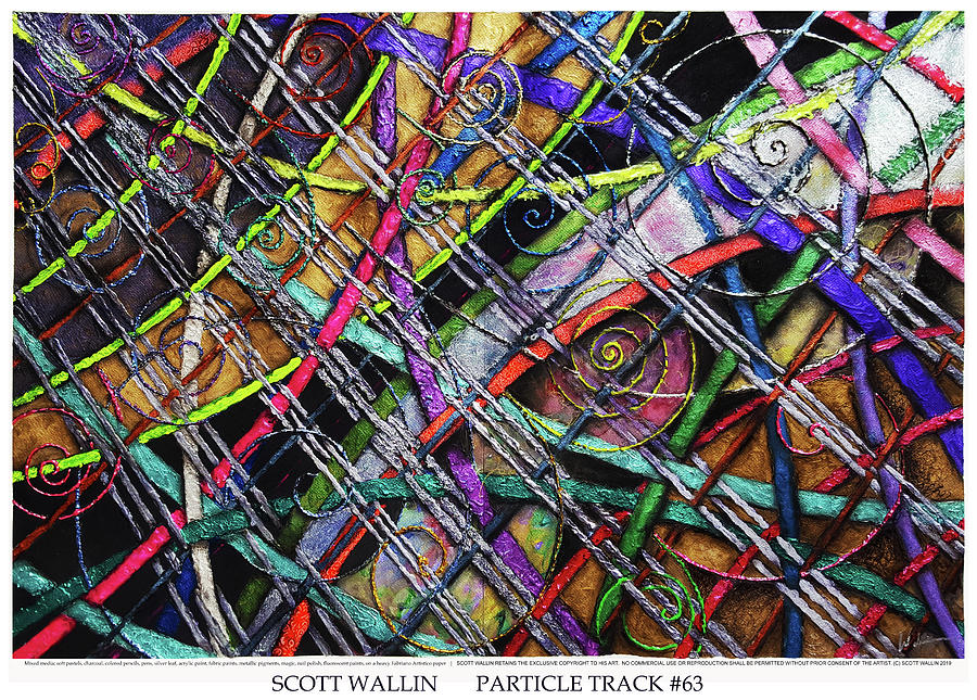 Energetic Painting - Particle Track Sixty-three by Scott Wallin