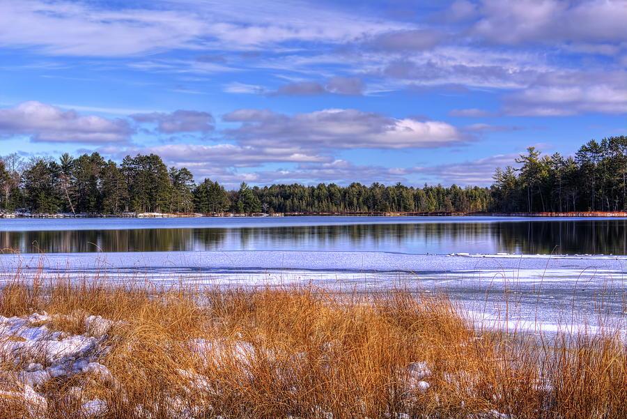 Partly Cloudy Skies Over North Nokomis Lake by Dale Kauzlaric