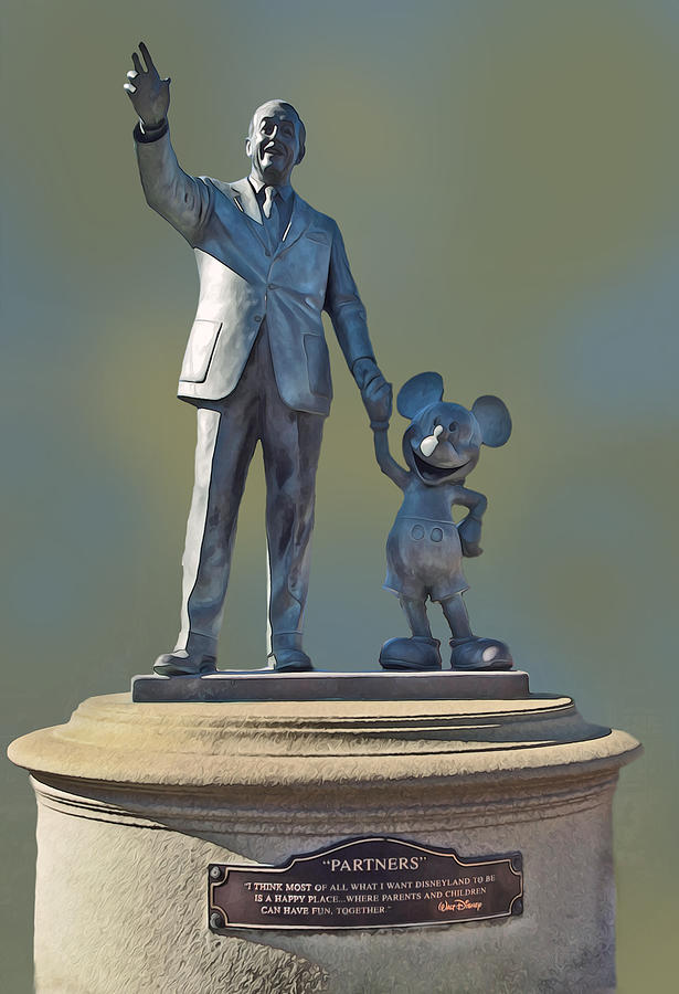 Partners Statue Disneyland by Anthony Jones