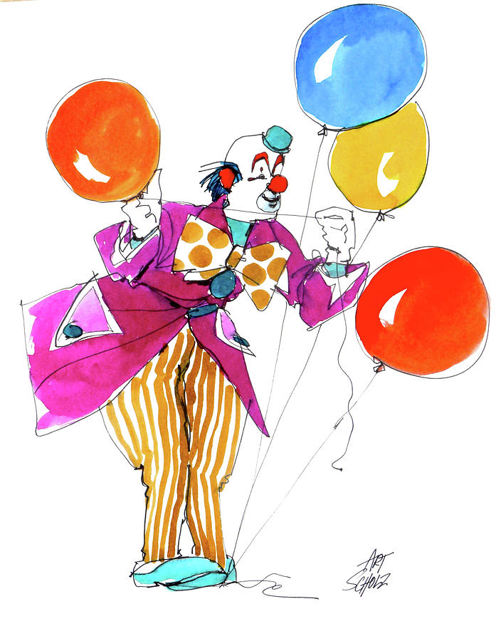 Party Clown by Art Scholz