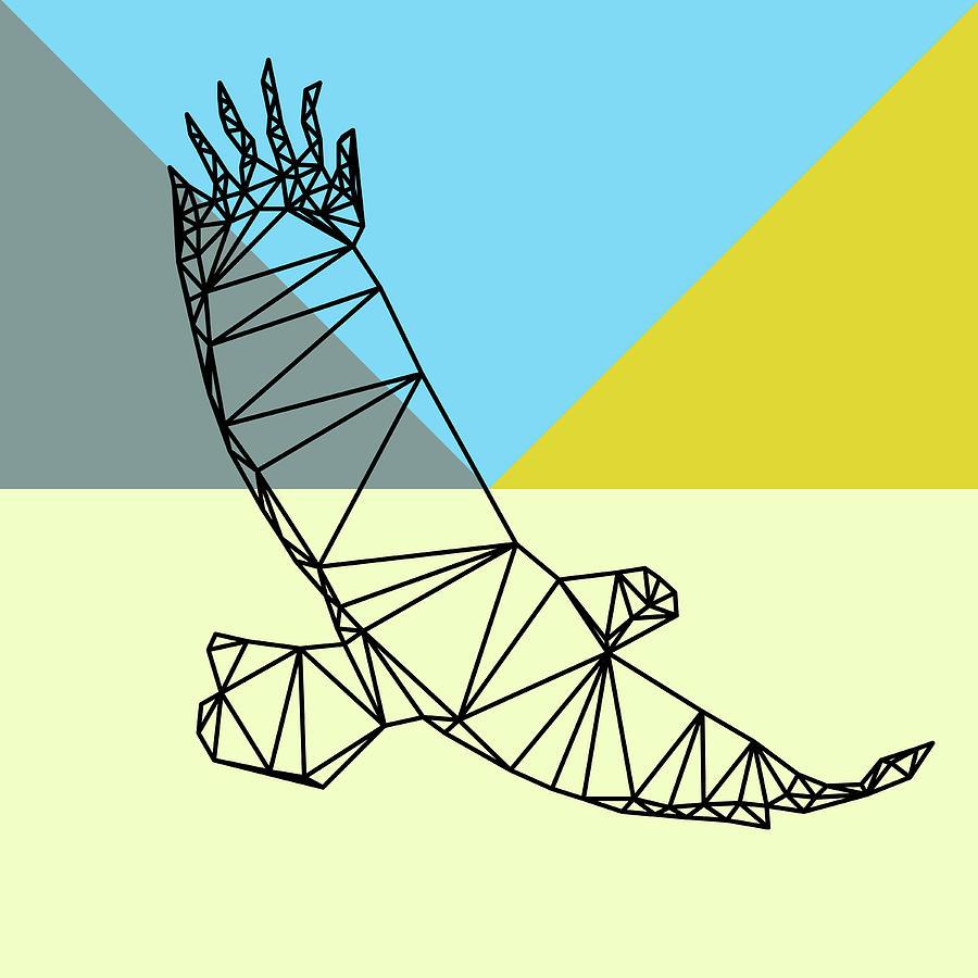 Eagle Digital Art - Party Eagle by Naxart Studio