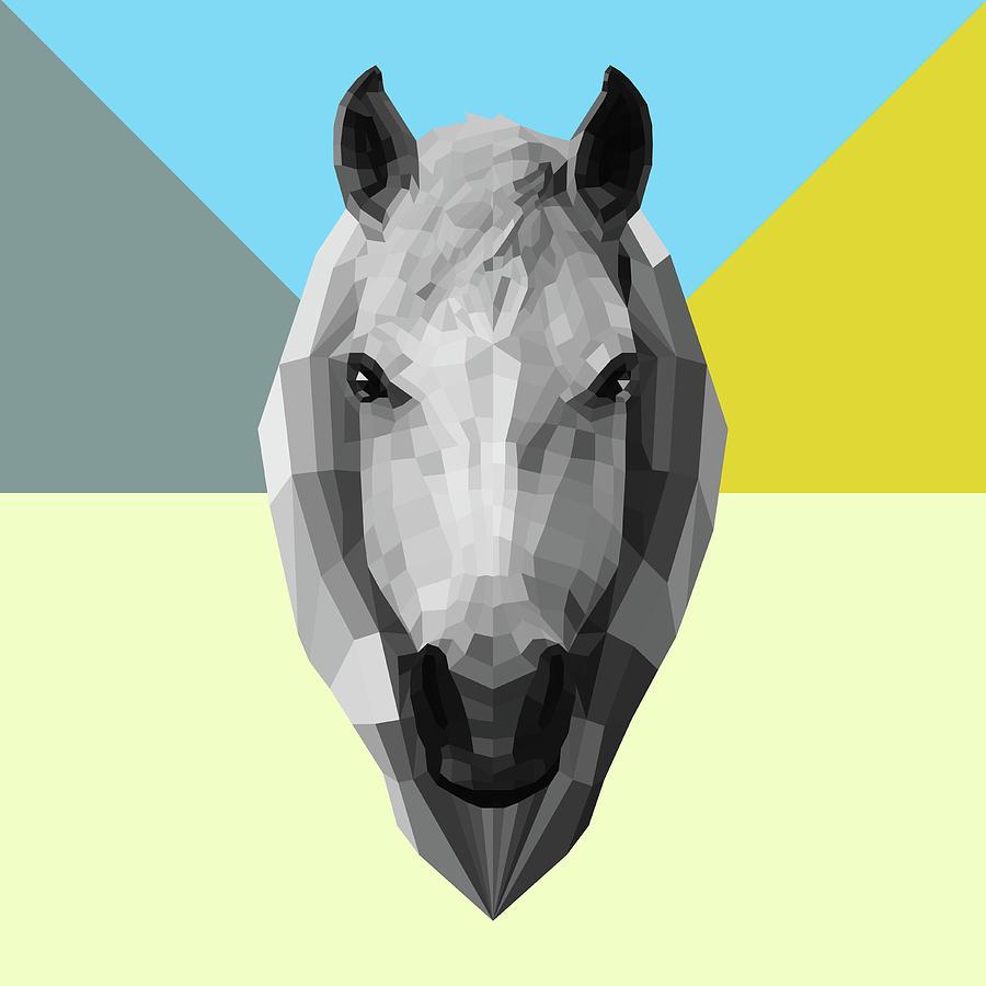 Horse Digital Art - Party Horse by Naxart Studio