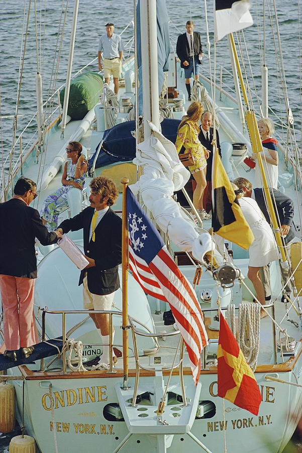 Party In Bermuda Photograph by Slim Aarons