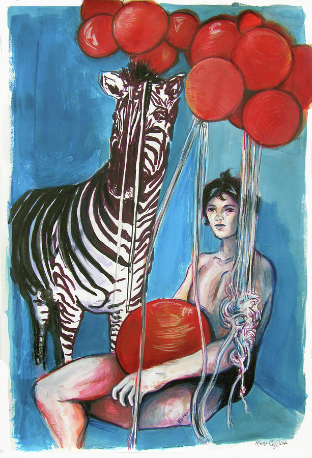Party of One Zebra Boy by Rene Capone