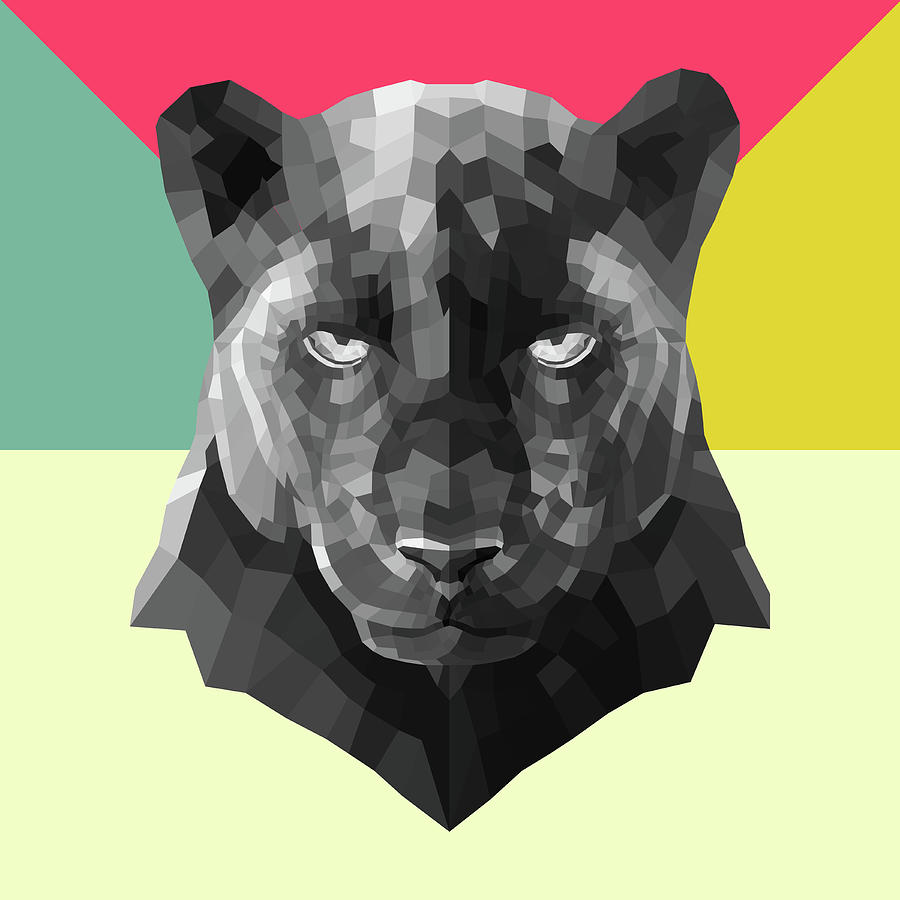 Panther Digital Art - Party Panther by Naxart Studio