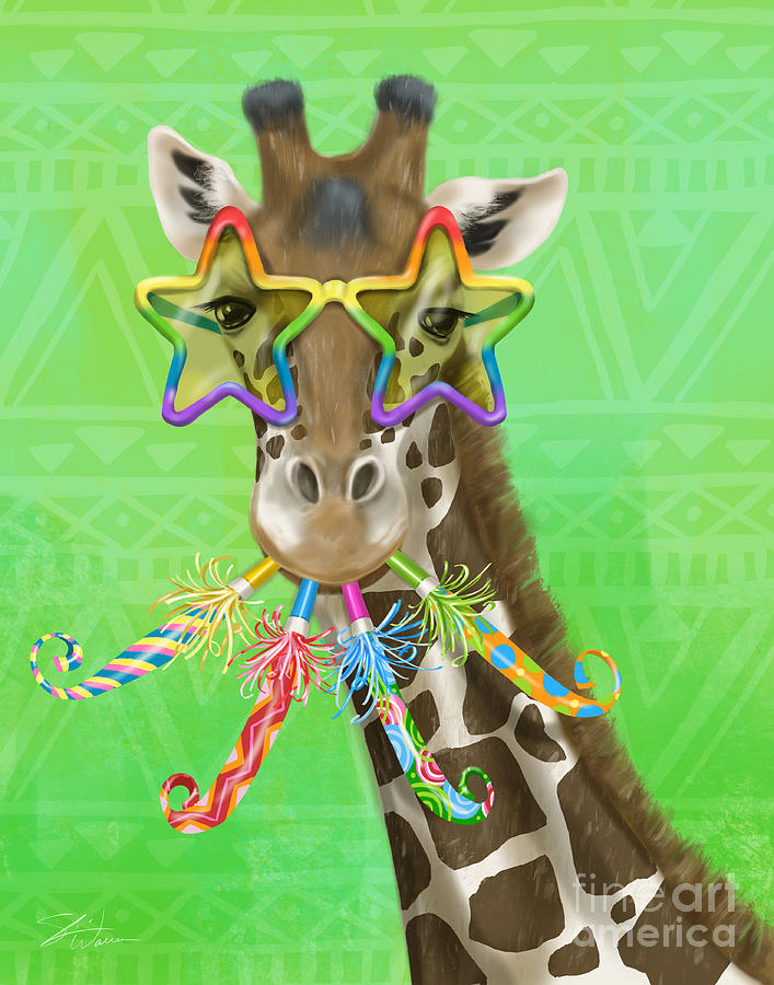 Party Safari Giraffe by Shari Warren