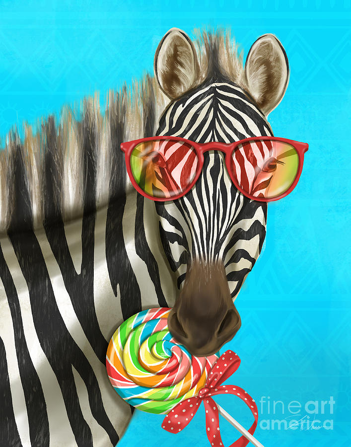 Party Safari Zebra by Shari Warren