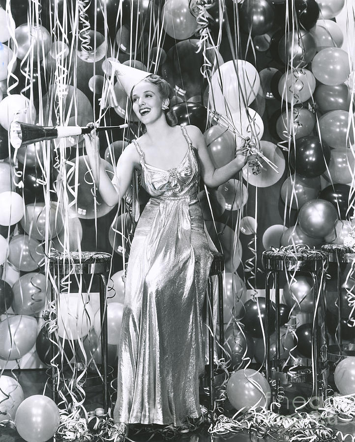 1940s Photograph - Partying Into The New Year by Everett Collection