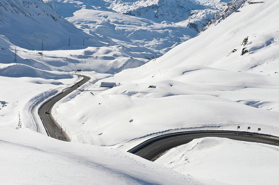 Pass Road Photograph by Franz Aberham