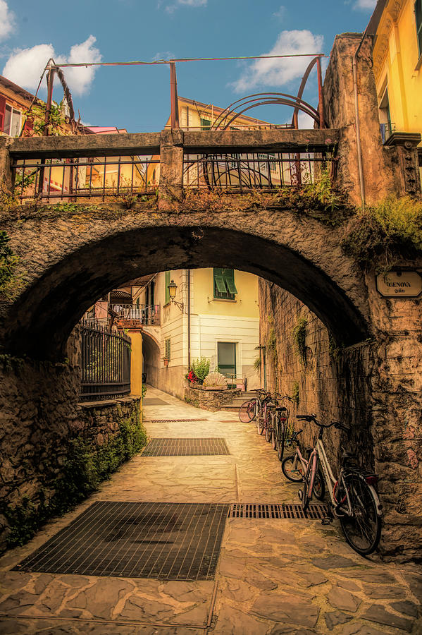 Passageway in Monterosso by Mick Burkey