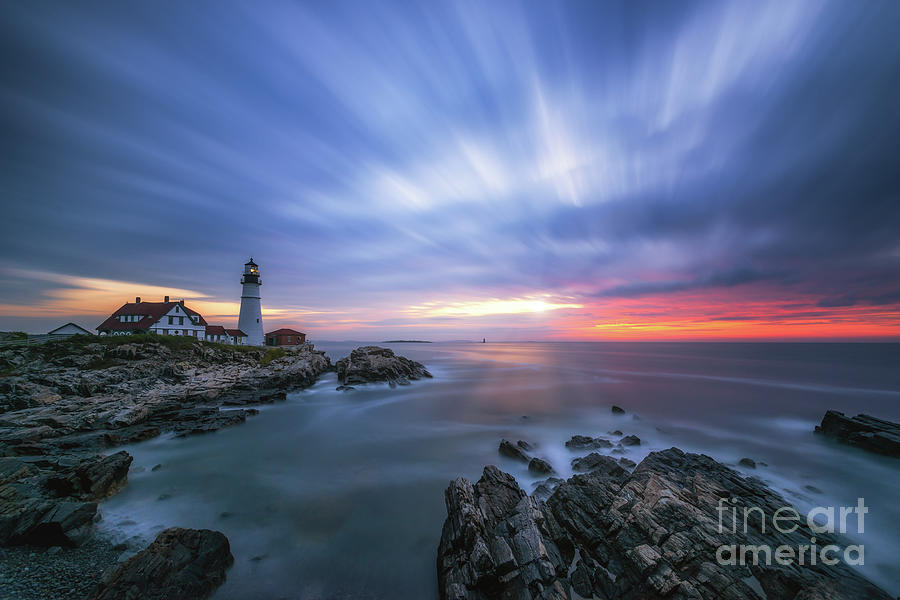 Cape Elizabeth Photograph - Passing Time At Portland Head Light  by Michael Ver Sprill
