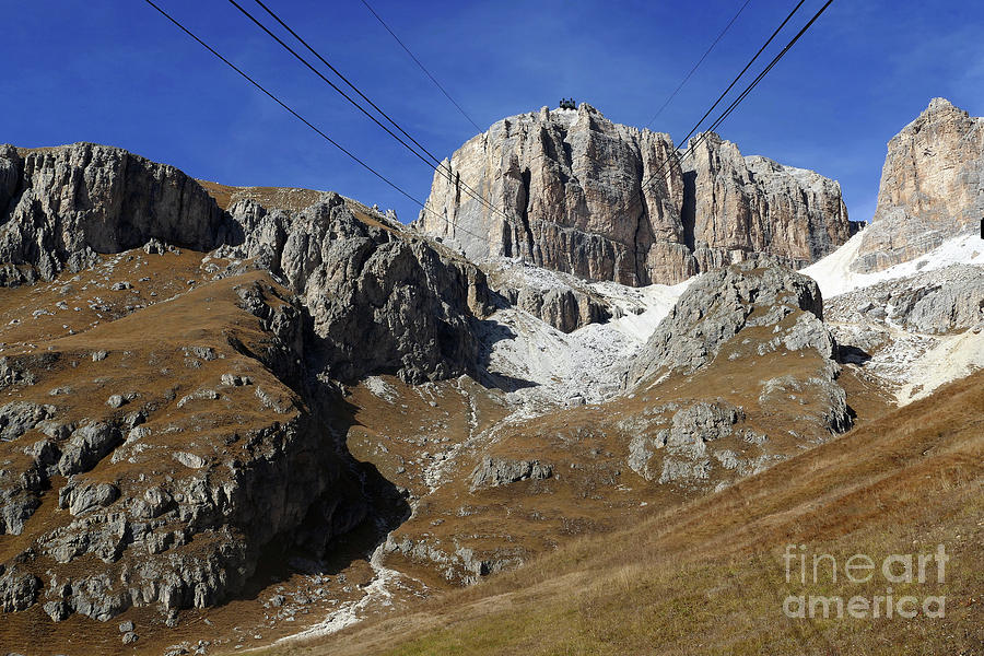 Passo Pordoi Cablecar Uplift by Phil Banks