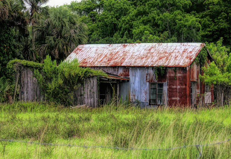 Shack Photograph - Past Its Time by Rosalie Scanlon