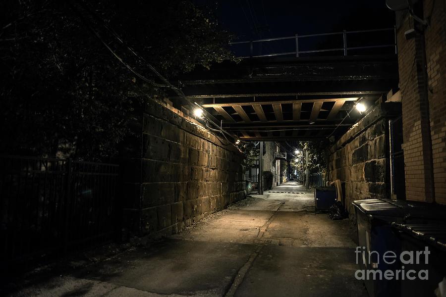 Alley Photograph - Past Midnight by Bruno Passigatti