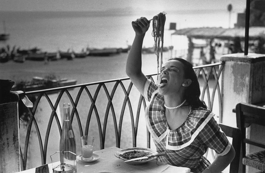 Pasta With Gusto Photograph by Bert Hardy