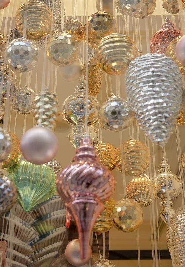 Christmas Ornaments Photograph - Pastel Christmas Ornaments by Iris Richardson