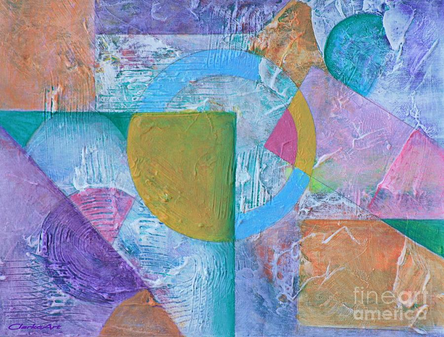 Pastel Textured Abstract by Jean Clarke