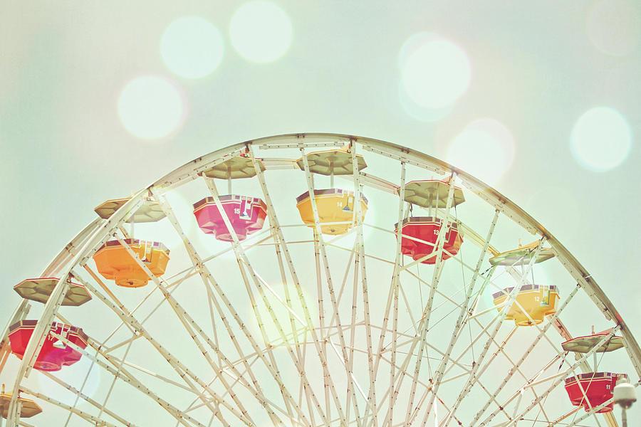 Pastel Ferris Wheel Photograph by Joyhey