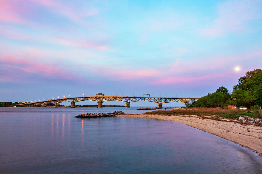 Pastel Sunset At Yorktown Beach Photograph