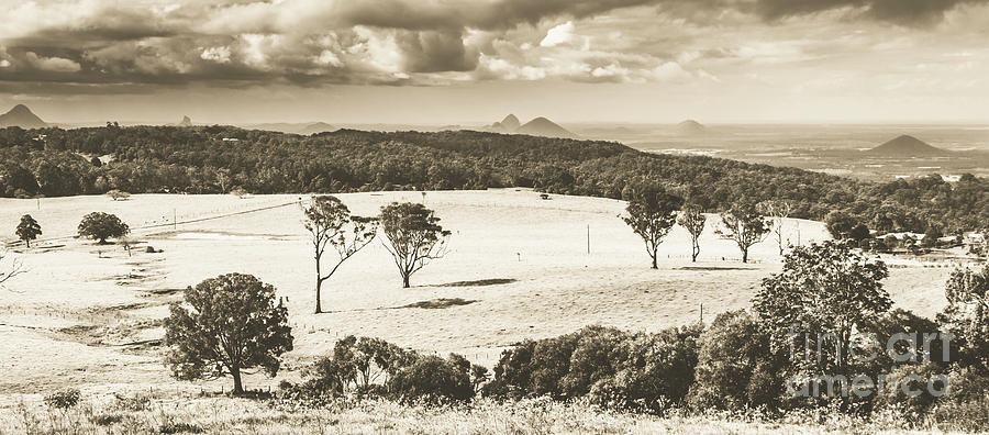 Sepia Photograph - Pastoral Plains by Jorgo Photography - Wall Art Gallery