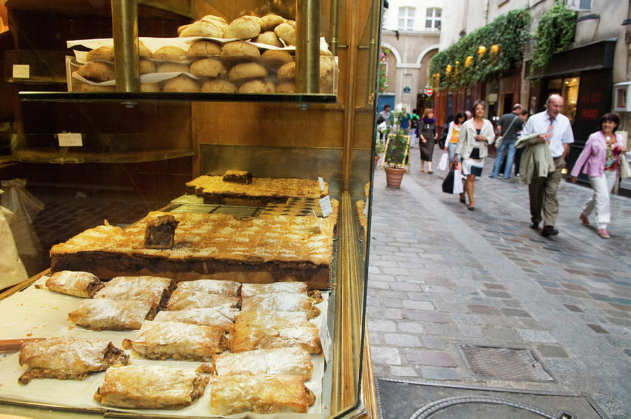 Pastry Shop Along Rue Des Rosiers In Photograph by Lonely Planet