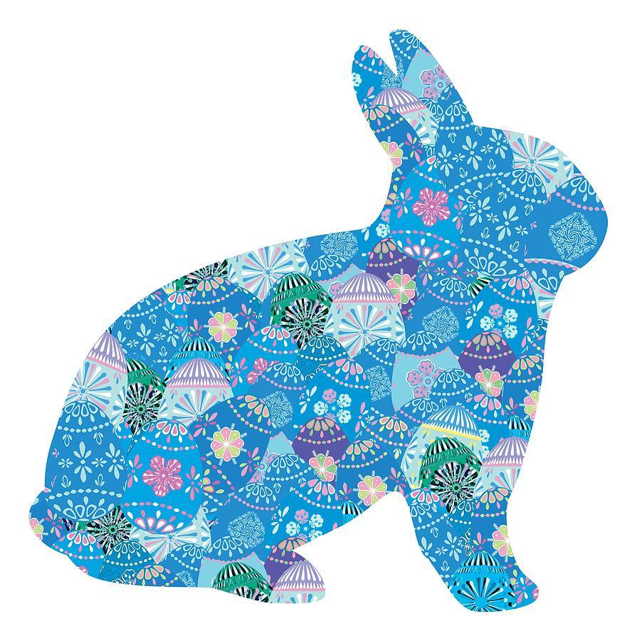 Patchwork Bunny Rabbit by Marianne Campolongo