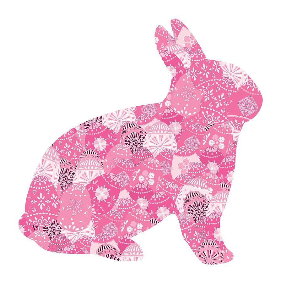 Patchwork Pink Bunny by Marianne Campolongo