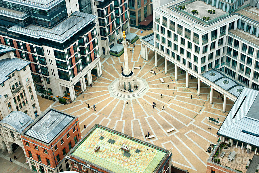 London Photograph - Paternoster Square, London. It Is An by Luciano Mortula - Lgm