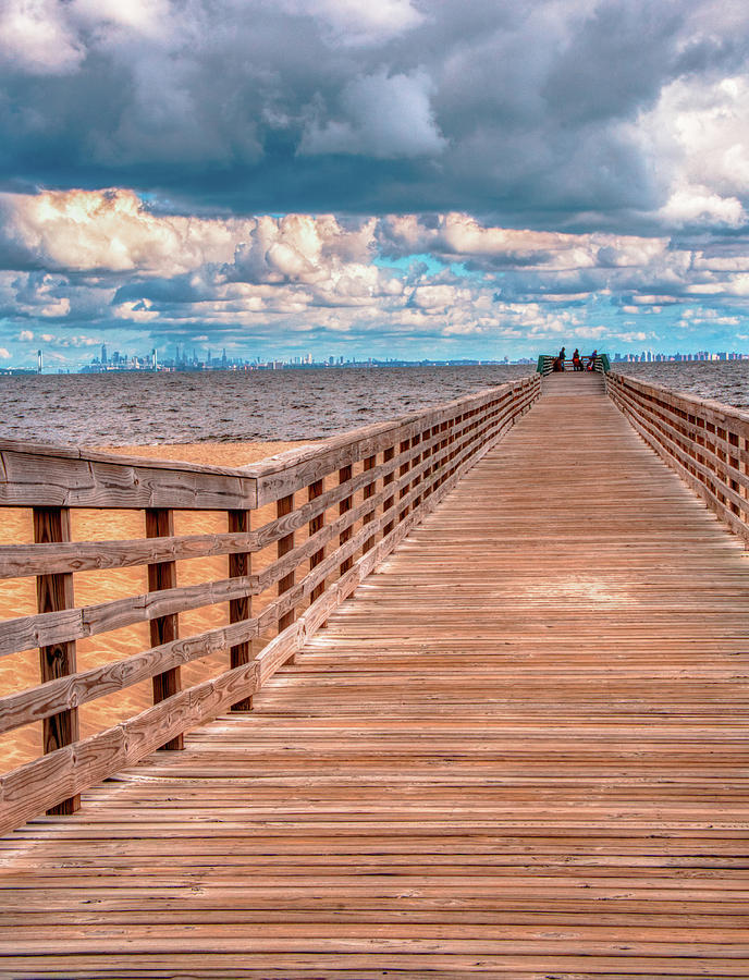 Path To The End Of Fishing Pier by Gary Slawsky
