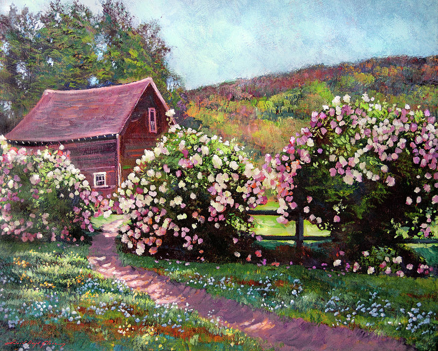 PATH TO THE OLD RED BARN by David Lloyd Glover