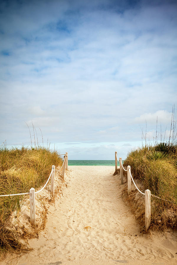 Path To The Sandy Beach Photograph by Pgiam