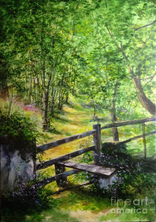 Path Way Through The Countryside England Painting