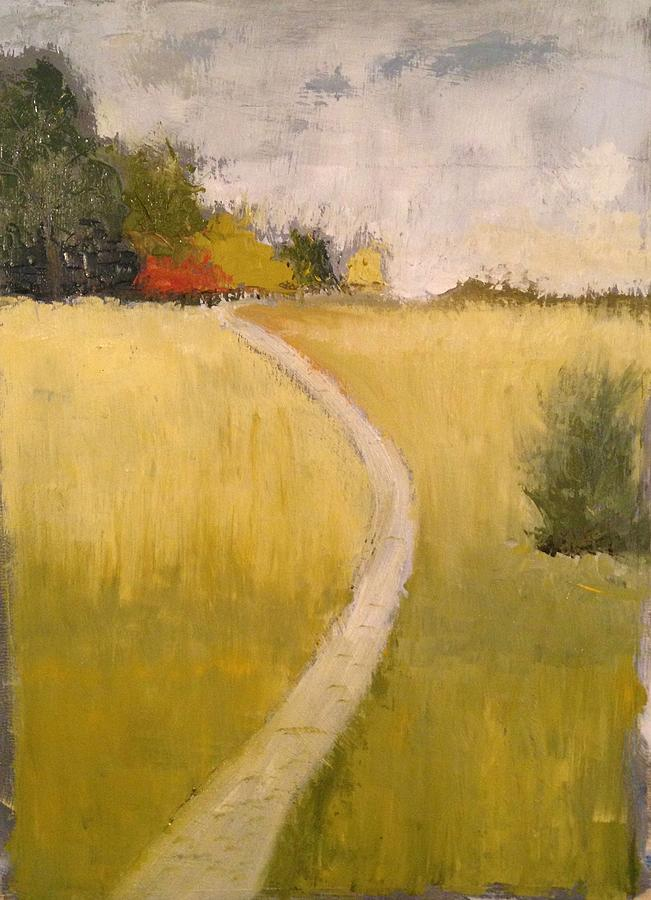 Road Painting - Pathway by Marty Klar