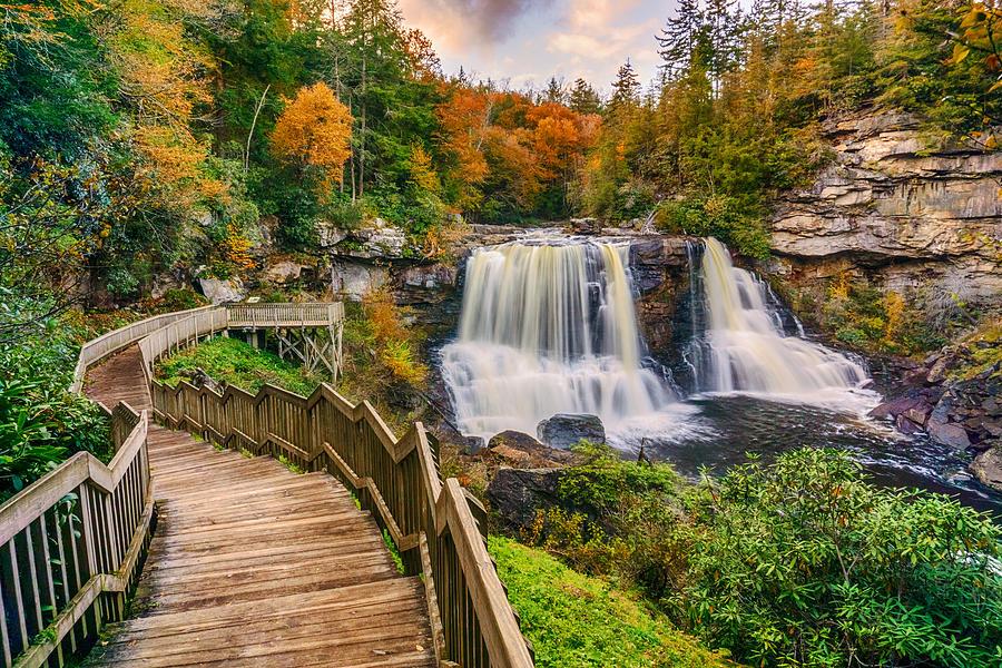 Pathway to Blackwater Falls Photograph by Amanda Jones