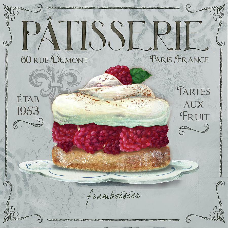 Food Mixed Media - Patisserie 1 by Fiona Stokes-gilbert
